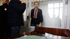 Журналист Василий Муравицкий, обвиняемый в госизмене и посягательстве на территориальную целостность и неприкосновенность Украины, в Королёвском районном суде в Житомире. Архивное фото