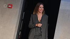 Телеведущая Ксения Собчак, заявившая о намерении баллотироваться на пост президента России, на пресс-конференции в Москве. 24 октября 2017