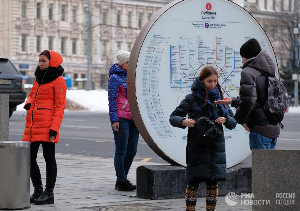Уличная схема линий Московского метро. Архивное фото