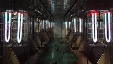 Кварцевые лампы обеззараживают вагоны в электродепо Калужское Московского метрополитена