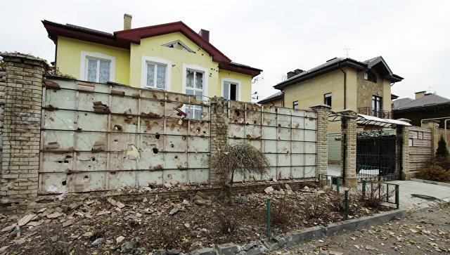 Последствия обстрела в Донецке. Ноябрь 2017