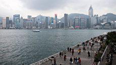 Вид с набережной на Гонконг. Архивное фото