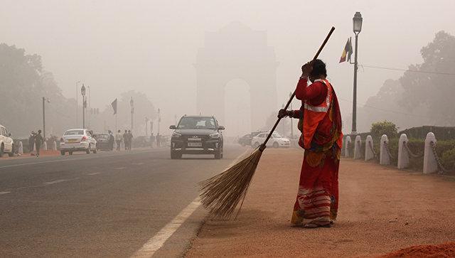 Смог в Нью-Дели, Индия. Архивное фото