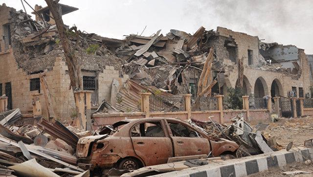 Разрушенные здания в Дейр-эз-Зоре, Сирия. Ноябрь 2017