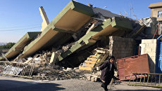 Последствия землетрясения в провинции Сулеймания, Ирак. 13 ноября 2017