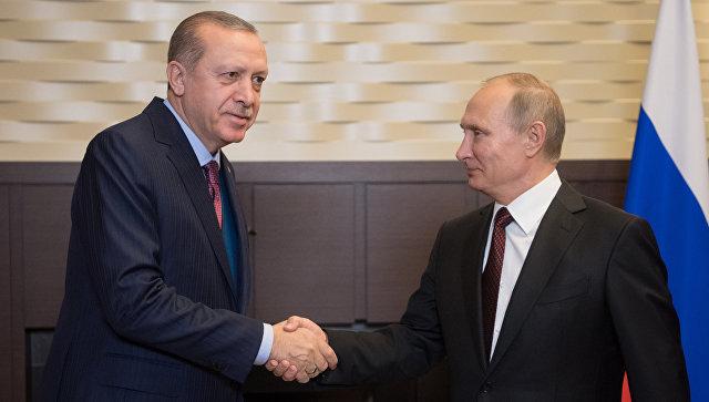 Эрдоган: Отношения России и Турции развиваются с каждым днем