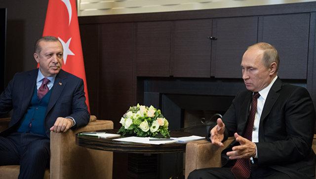 Эрдоган обсудит сПутиным безвизовый режим иснятие торговых ограничений