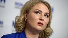 Председатель Национального родительского комитета Ирина Волынец на пресс-конференции. Архивное фото