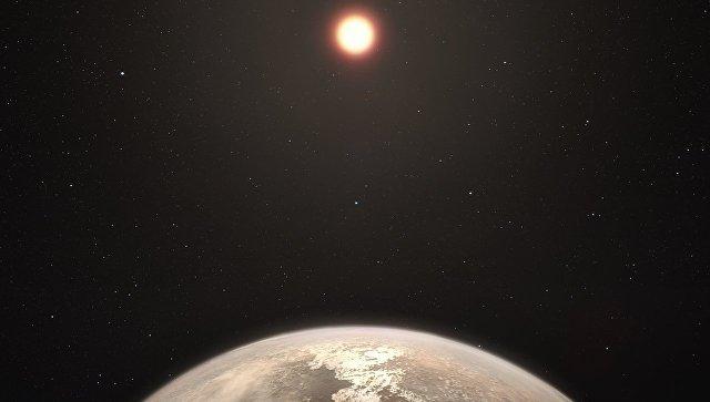 Так художник представил себе планету Ross 128b в созвездии Девы