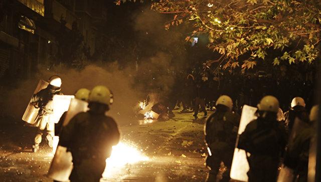 Беспорядки в Афинах в годовщину восстания в Политехническом университете