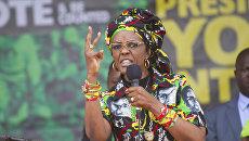 Жена президента Зимбабве Грейс Мугабе . Архивное фото