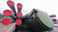 Зенитный ракетно-пушечный комплекс Панцирь-С1 на выставке современной техники и вооружения Балтийского флота в Калининграде. 19 ноября 2017