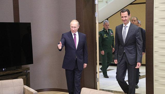 Путин в Сочи встретился с Асадом