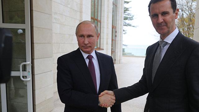 Президент РФ Владимир Путин и президент Сирии Башар Асад. Архивное фото