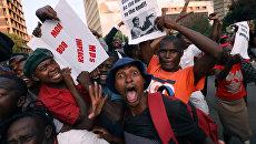 Жители Хараре празднуют отставку президента Зимбабве Роберта Мугабе. 21 ноября 2017