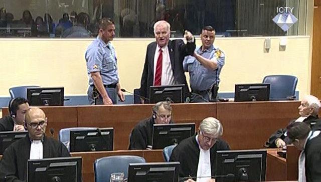 Генерал Ратко Младич во время вынесения приговора в Гаагском трибунале