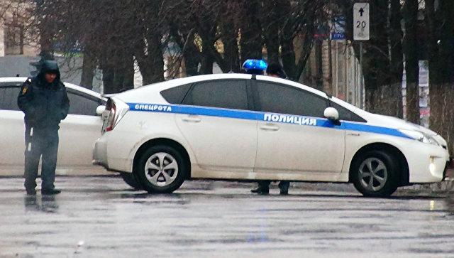 Автомобиль полиции в Луганске. Архивное фото