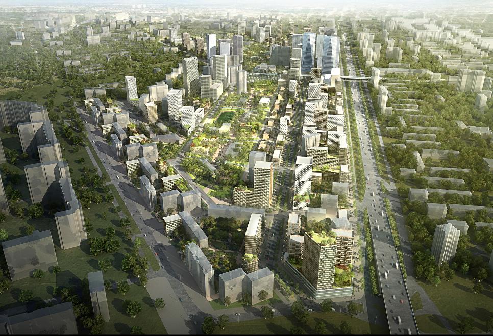 Концепция площадки реновации в районе Кузьминки от бюро Спектрум+AREP