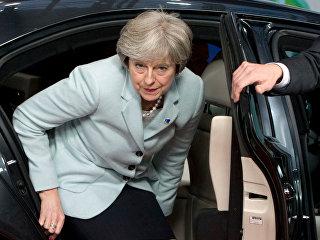 Премьер-министр Великобритании Тереза Мэй перед началом саммита Восточного партнерства
