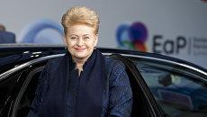 Президент Литвы Даля Грибаускайте  на 5-м Саммите Восточного партнерства в Брюсселе. 24 ноября 2017