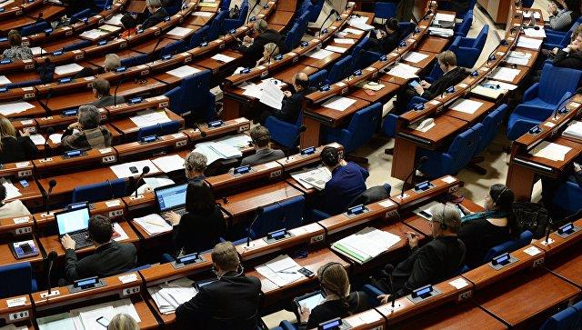 Пленарное заседание Парламентской ассамблеи Совета Европы. Архивное фото