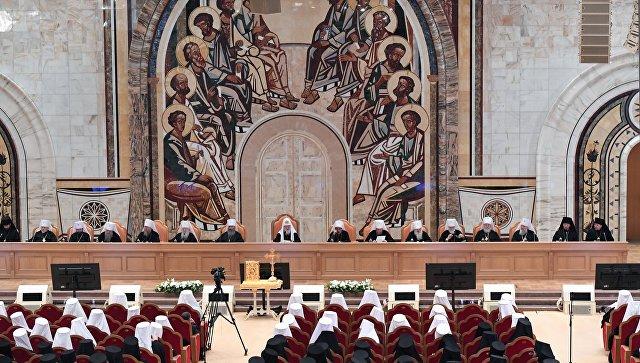 Картинки по запросу Русская православная церковь Архиерейский Собор 30 ноября 2017 года