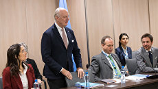 Специальный посланник ООН по Сирии Стаффан де Мистура в Женеве. 30 ноября 2017
