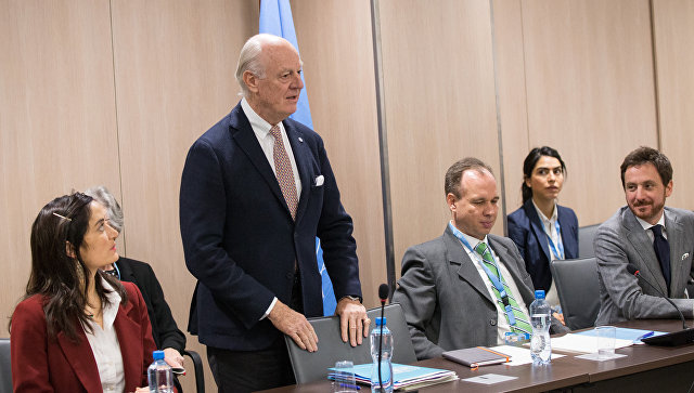 Специальный посланник ООН по Сирии Стаффан де Мистура. Архивное фото