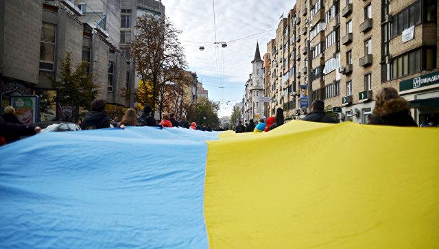 Флаг Украины в Киеве. Архивное фото