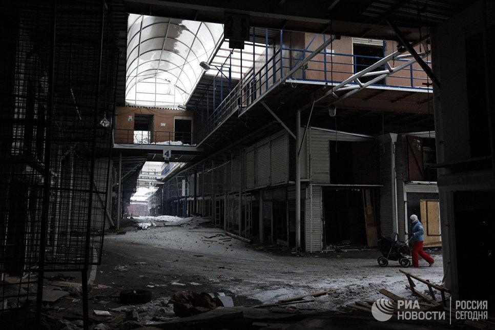 Ликвидация торговых рядов на бывшем Черкизовском рынке. Архивное фото