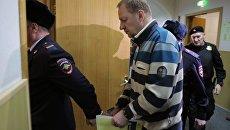 Глава Экспертно-криминалистического центра МВД Петр Гришин в Басманном суде. 7 декабря 2017