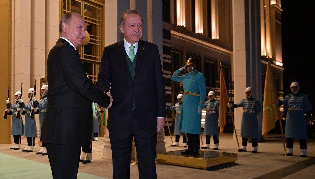 Путин: Переговоры сЭрдоганом прошли вделовой иконструктивной атмосфере