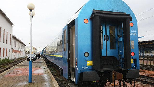 Поезд, который ОАО Укрзализныця запустила по маршруту Киев-Вена. Архивное фото