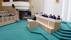 Сергей Лавров выступает на заседании Совета Федерации РФ. 15 декабря 2017