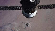Стыковка пилотируемого корабля Союз МС-07 с экипажем и Международной космической станции