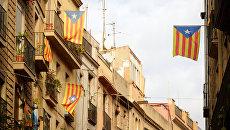 Каталонские флаги. Архивное фото