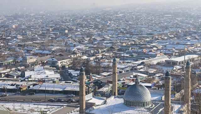 Вид на город Ош с горы Сулейман-Тоо. Архивное фото