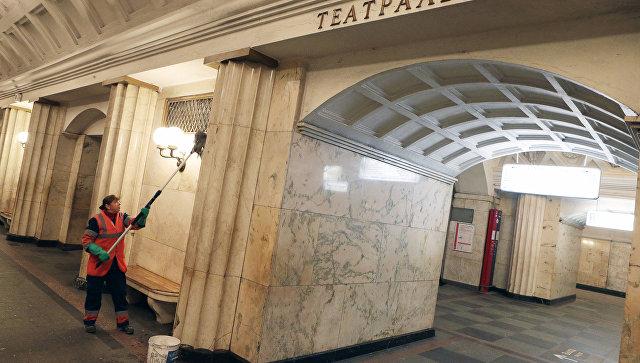Станция Театральная Замоскворецкой линии. Архивное фото