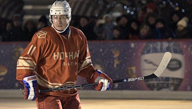 Путин может сыграть в хоккей с российской сборной