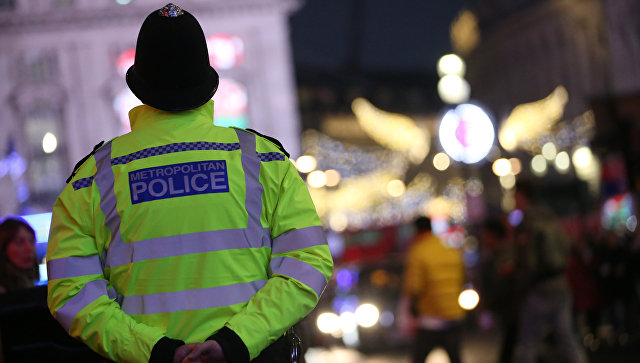 Британский полицейский. архивное фото