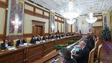 Председатель правительства РФ Дмитрий Медведев проводит заседание правительства. Архивное фото