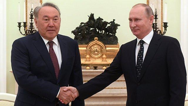 Президент РФ Владимир Путин и президент Казахстана Нурсултан Назарбаев во время встречи. 27 декабря 2017