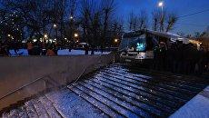 Опубликована запись с видеорегистратора автобуса, сбившего людей в Москве