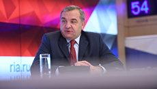 Глава МЧС РФ Владимир Пучков в ММПЦ Россия сегодня. 28 декабря 2017