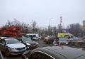 На месте ДТП возле метро Сходненская в Москве. 29 декабря 2017