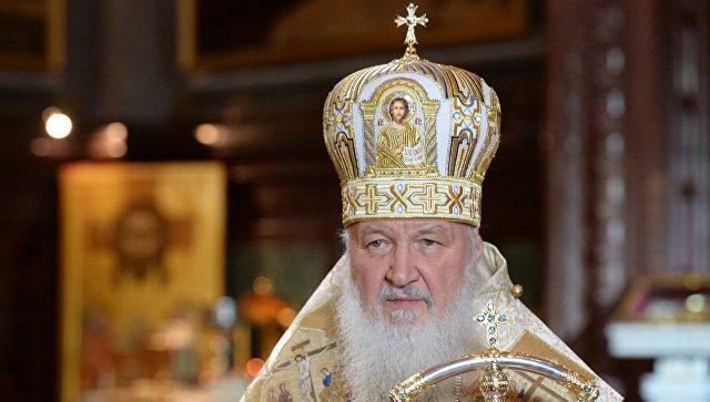 Патриарх Московский и всея Руси Кирилл во время Рождественского богослужения. Архивное фото