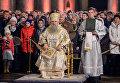 Митрополит Санкт-Петербургский и Ладожский Варсонофий проводит Рождественское богослужение в Казанском соборе в Санкт-Петербурге
