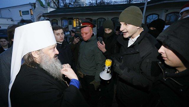 На Украине радикалы заблокировали въезд в Киево-Печерскую лавру
