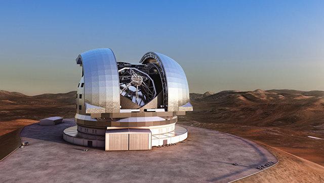 Башня будущего телескопа E-ELT