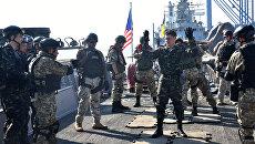 Военнослужащие США и Украины на военных украинско-американских военных учениях Sea Breeze. Архивное фото